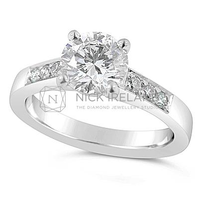 TDR20/ 18ct White Gold Diamond Engagement Ring