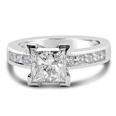 FSDR11/ Platinum 1ct Princess Cut Diamond Ring