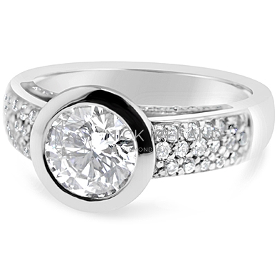 TDR23/ 18ct White Gold 1.25ct Diamond Engagement Ring