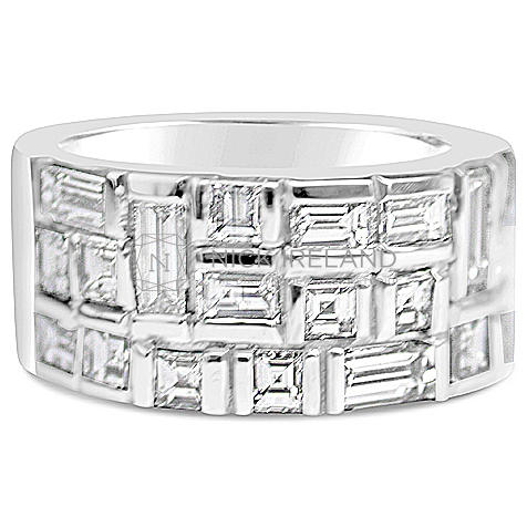 DWR8/ 18ct White Gold 2.5ct Diamond Wedding Ring
