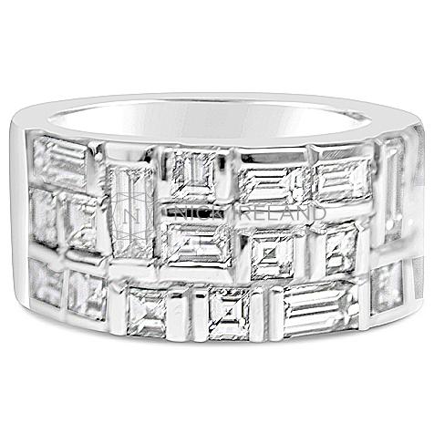 DWR8/ 18ct White Gold 2.5ct Diamond Wedding Ring