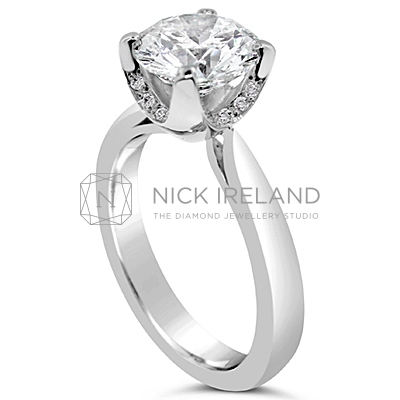 TDR9/ Platinum 1.7ct Diamond Engagement Ring