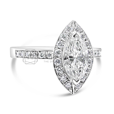 FSDR8/ 18ct Gold 1ct Marquise Engagement Ring