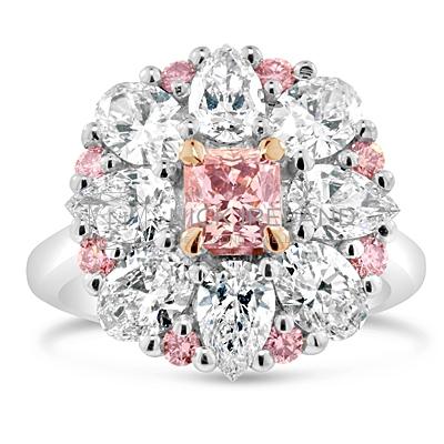 DJSP32/ 18ct White Gold Argyle Pink Engagement Ring