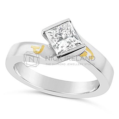 DSDS7/ Platinum Princess Cut Solitaire