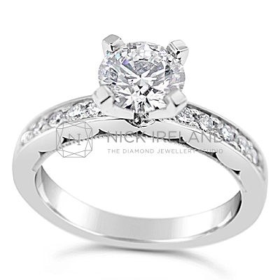 TDR38/ 18ct White Gold Diamond 1ct Engagement Ring