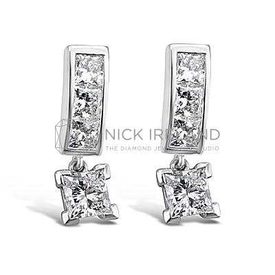 DE5/ 18ct White Gold 1.5ct Diamond Earrings