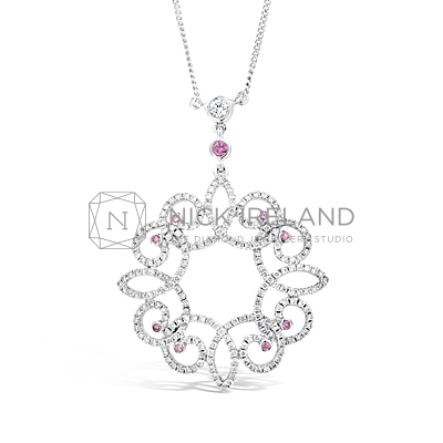 APDJ1/ 18ct White Gold Argyle Pink Diamond Pendant