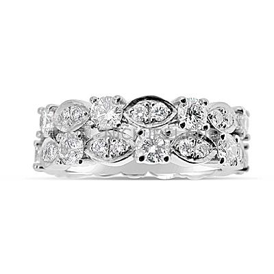 DWR15/ Platinum Diamond Wedding Ring