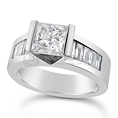 FSDR18/ 18ct White Gold 1.5ct Princess Diamond Ring