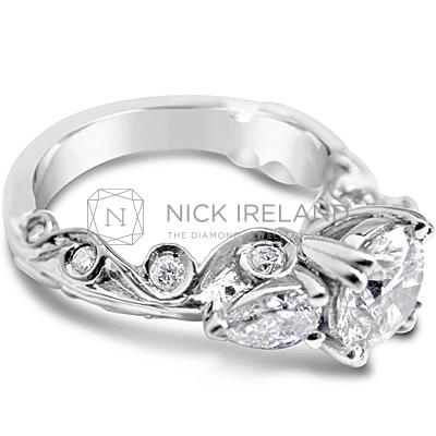 TDR25/ Platinum 1.1ct Diamond Engagement Ring