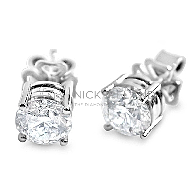 DE3/ Platinum 1.5ct Diamond Earrings