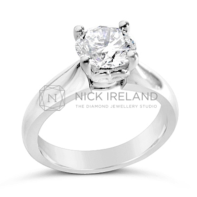 TDR28/ Platinum 1.1ct Diamond Solitaire