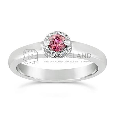 DJSP/40 18ct White Gold Argyle Pink Ring