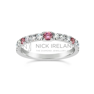 DJSP/44 Platinum Argyle Pink Wedding Ring