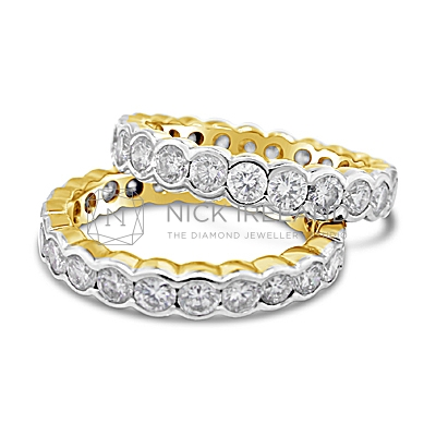 DWR17 / 18ct White and Yellow Diamond Wedding Rings
