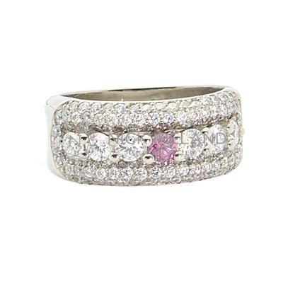 DJSP52/ Platinum Argyle vivid pink diamond ring