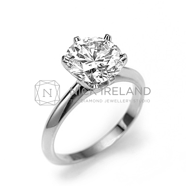 TDR43 / 1.5ct Platinum 6 claw diamond solitaire