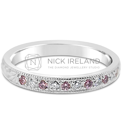 DJSP28/ Platinum Argyle Pink Wedding Ring
