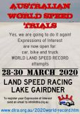 World Speed Trials Australia