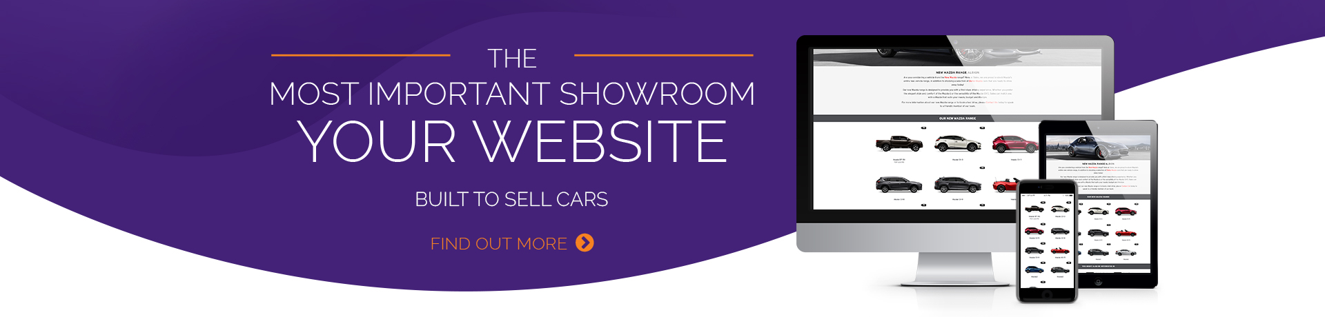 WE HAVE A RESPONSIVE WEBSITE OPTION TO SUIT ANY DEALERSHIP