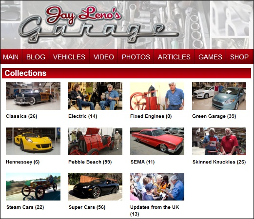 "Celebrity Car Collections ""Jay Leno"""