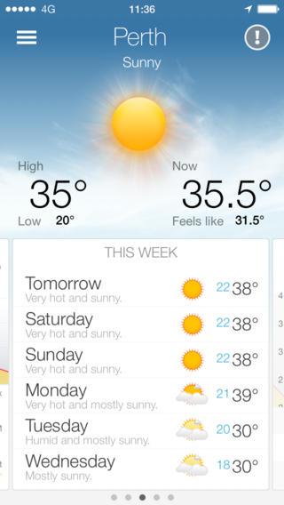 Perth Pocket Weather