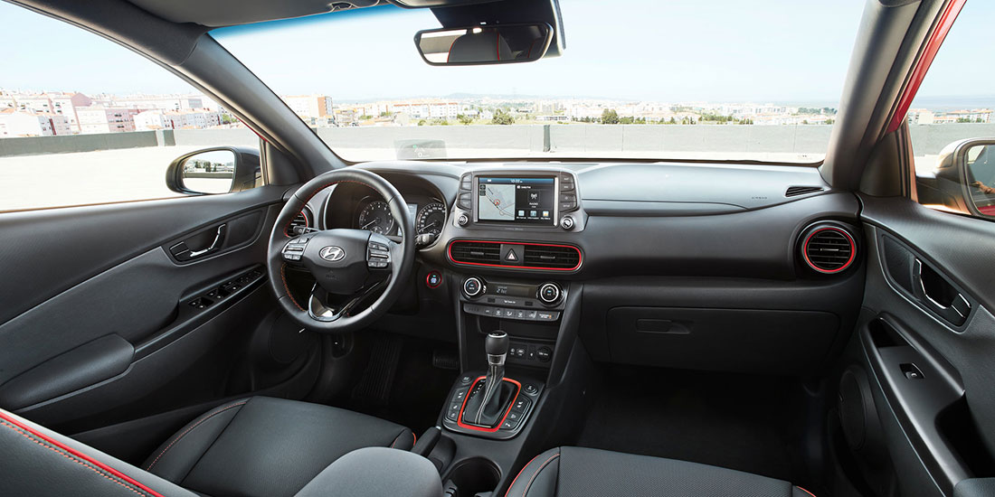 Hyundai Kona interior at John Hughes in Perth