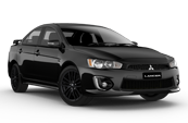 black-mitsubishi-lancer-car-model