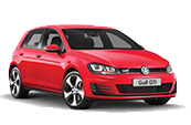 volkswagon-golf-GTI-red-car-model