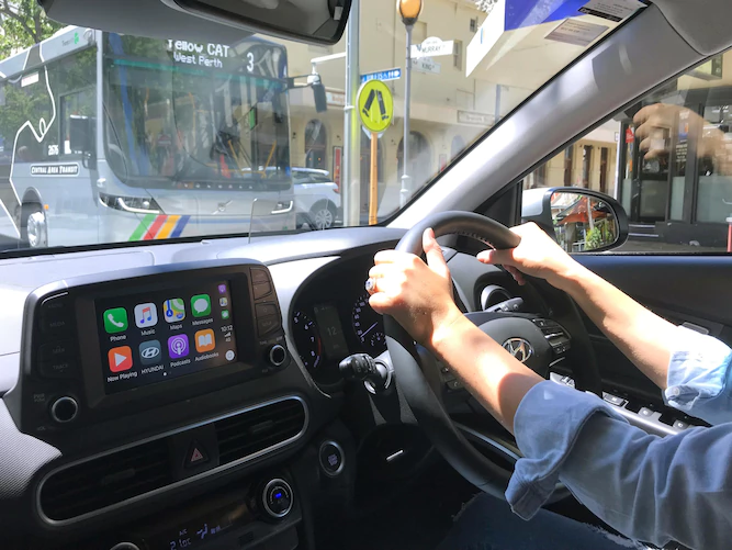 Hyundai Kona in Perth with Apple CarPlay