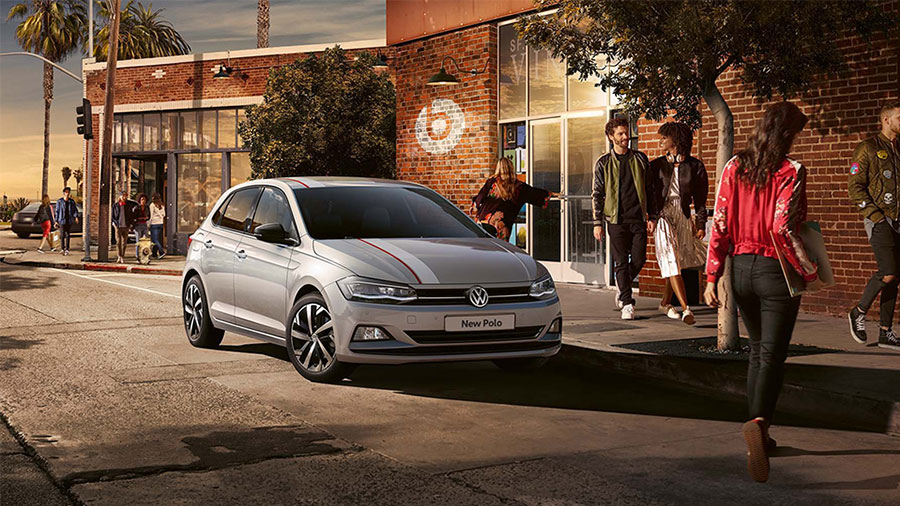 Gray 2018 Volkswagen Polo Front View