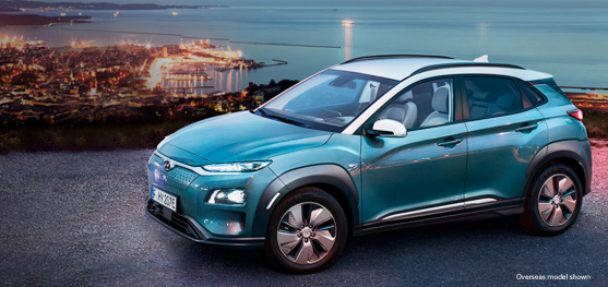 Hyundai Kona Electric Model Turquoise