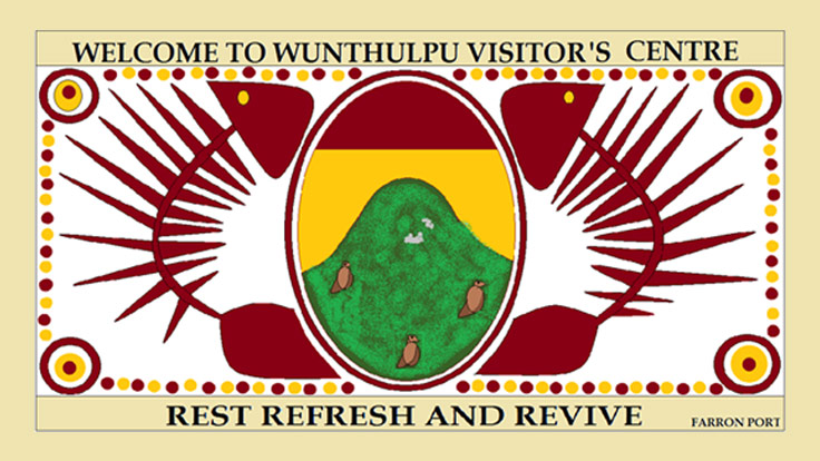 View of front of the Wunthulpu Visitor's centre