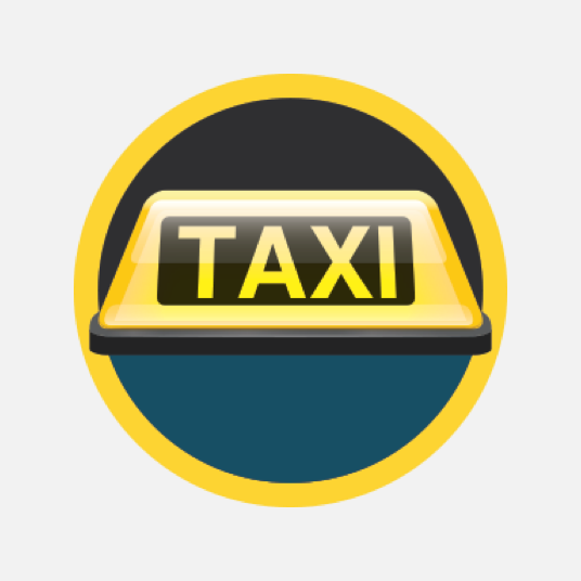 Illustration style image of a taxi sign