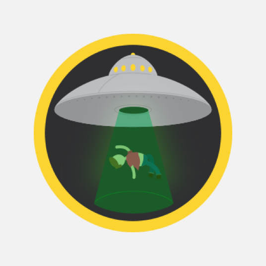 Illustration style image of a UFO
