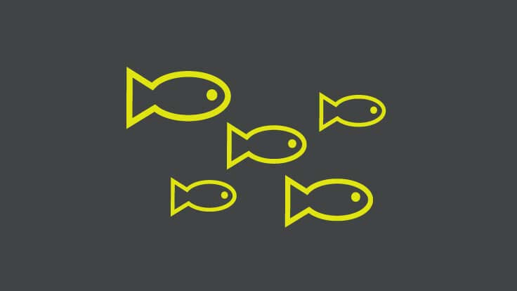 A school of fish icon