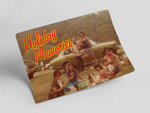 Holiday memories - drink driving postcard