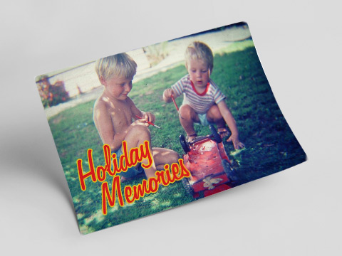 Holiday memories - speed postcard