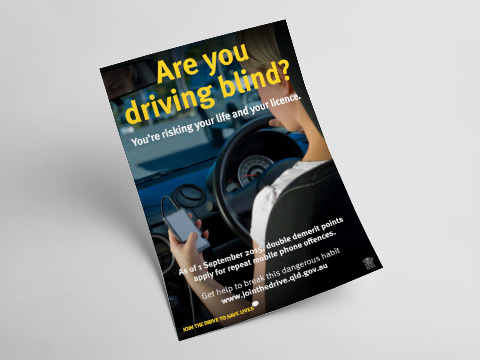 Are you driving blind? - A4 poster