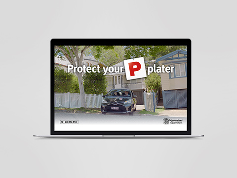 Protect your P-plater - screensaver