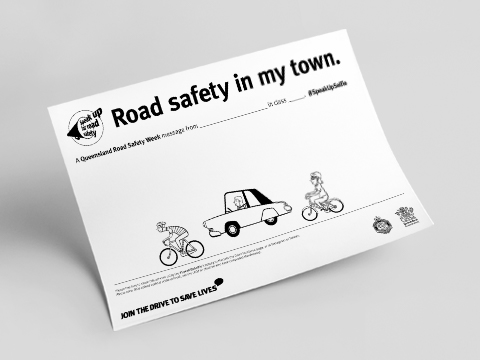 Road Safety Week schools activity poster