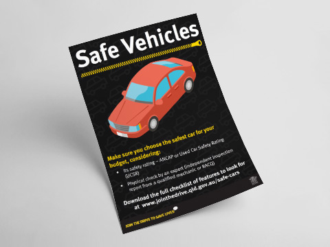 Safe vehicles - A4 poster