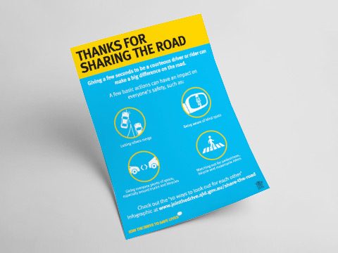 Thanks for sharing the road - A4 poster
