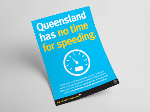 Queensland has no time for speeding - A4 poster