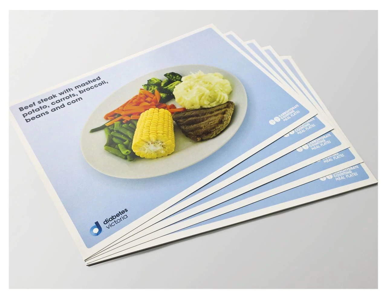 Carb Counting Meal Plates - front