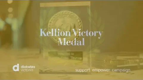 Receiving the Kellion Victory Medal