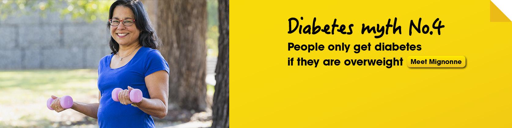 Bust a diabetes myth 4