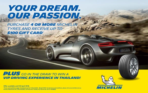 Michelin Advert March 2018