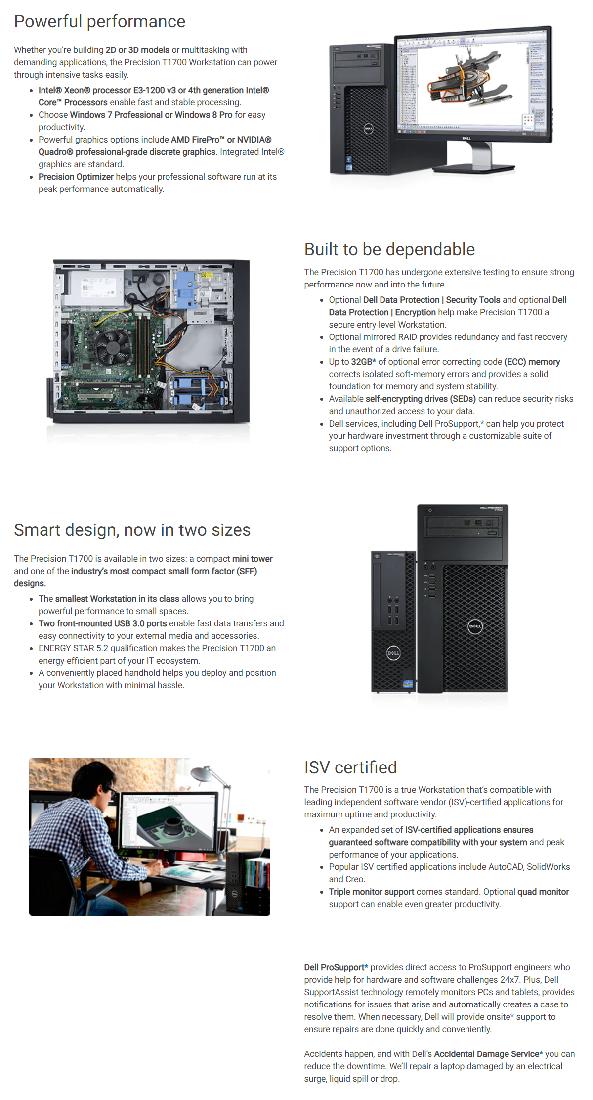 Details about NEW SFF Dell Precision T1700 Small Form Factor Workstation  Intel I5 16GB 1TB HDD